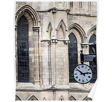 Clock at York Minster Poster