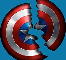 Cracked Captain Shield  by AvatarSkyBison