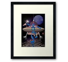 Robots on Water World Framed Print