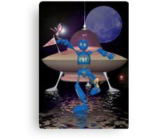 Robots on Water World Canvas Print