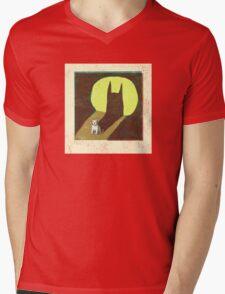 Westie Batman Mens V-Neck T-Shirt