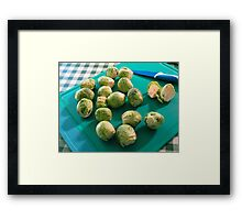 Greens are good for you! Framed Print