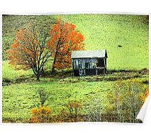 Old Barn In Late Autumn Poster