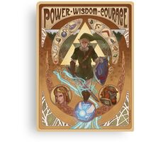 Art Nouveau Legend of Zelda Canvas Print