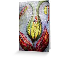 Calyx through stained glass  Greeting Card