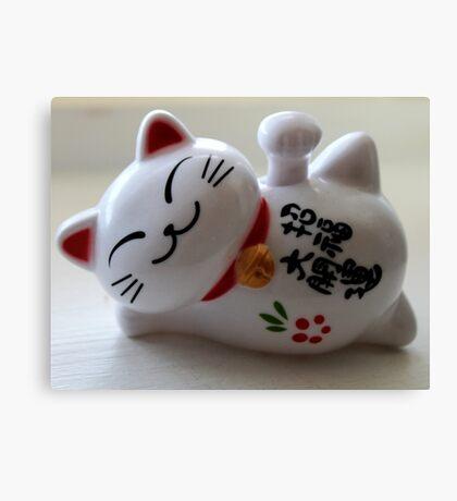 Maneki Neko (Fortune Cat) Canvas Print
