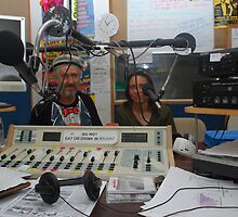 2BOB Radio Studio with Guests by Graham Mewburn