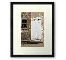 Chateau Door And Window Framed Print