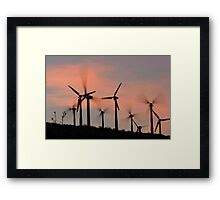 Windmills of the Palm Springs Pass Framed Print