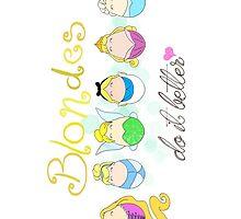 Blonde Disney Ladies by LaurasLovelies