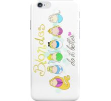 Blonde Disney Ladies iPhone Case/Skin