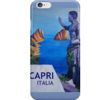 Capri view with Ancient Roman Empire Statue Poster iPhone Case/Skin