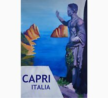 Capri view with Ancient Roman Empire Statue Poster Unisex T-Shirt