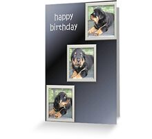 Rottweiler Birthday Collage Greeting Card