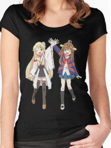 Kongou and Karen cross-over Women's Fitted Scoop T-Shirt