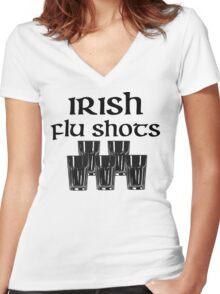 Irish Flu Shots Women's Fitted V-Neck T-Shirt
