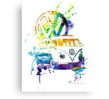 Volkswagen Kombi Splash Canvas Print