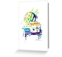 Volkswagen Kombi Splash Greeting Card