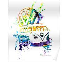 Volkswagen Kombi Splash Poster