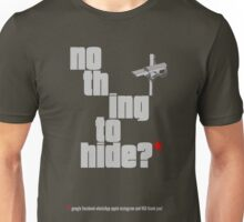 Nothing to hide. Red Asterisk (dark surface) Unisex T-Shirt