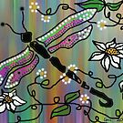 Dragonfly and Daisies... by linmarie