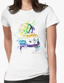 Volkswagen Kombi Splash © Womens Fitted T-Shirt