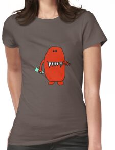 Tooth Brushing Monster Womens Fitted T-Shirt