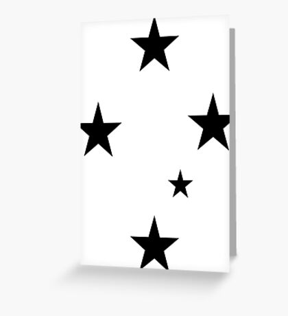 Southern Cross Black Greeting Card