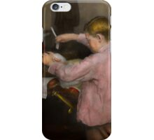 Barber - Shaving - Faith in a child - 1917 iPhone Case/Skin