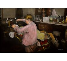 Barber - Shaving - Faith in a child - 1917 Photographic Print