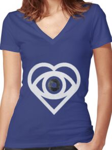 Future Hearts Women's Fitted V-Neck T-Shirt
