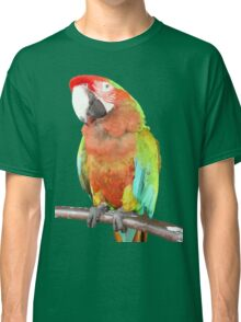 Vector Style Harlequin Macaw On A Perch Classic T-Shirt