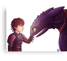 Hiccup & Toothless Canvas Print