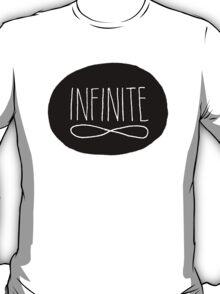 Infinite Black and White Typographic Design T-Shirt