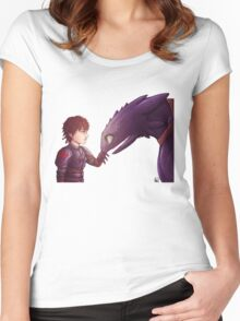 Hiccup & Toothless Women's Fitted Scoop T-Shirt