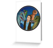 Raptor Friends Greeting Card