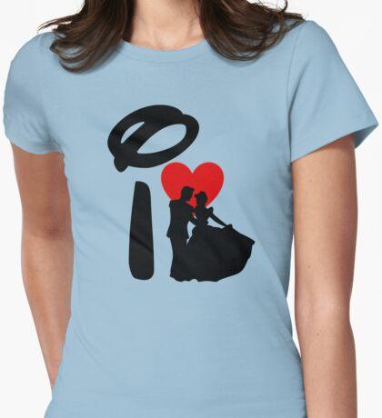 I Heart Happily Ever After Womens Fitted T-Shirt