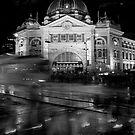 Flinders Station by Lesley Williamson