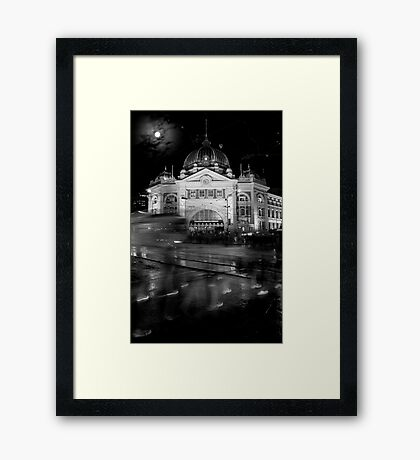 Flinders Station Framed Print