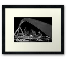Bridge over Yarra River Framed Print