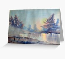 Winter Waterland Greeting Card