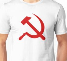 Hammer and Sickle in Red Unisex T-Shirt