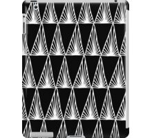 Hand Drawn Geometric Triangle Monochrome Art Deco Pattern iPad Case/Skin