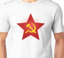 Hammer and Sickle in Red Star Unisex T-Shirt