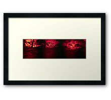 The Sky is Burning Framed Print