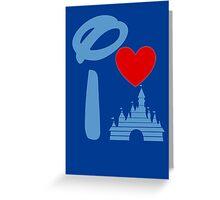 I Heart Sleeping Beauty (Inverted) Greeting Card