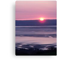 Sunset over Llanfairfechan Canvas Print