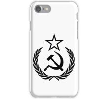 Hammer and Sickle with Star and Wreath Black iPhone Case/Skin