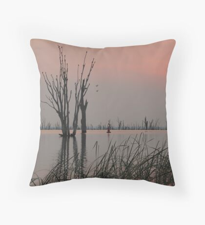 Birds Salute the Dawn Throw Pillow