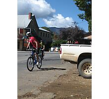 Cyclist Photographic Print